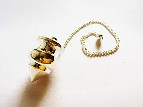 Metal Reiki Pot Shaped Copper Silver Plated Healing Chakra Dowsing ()