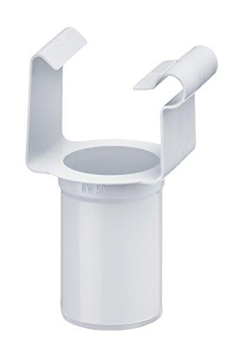 Inefa Ablaufstutzen DN 50 / NW 68, Weiß kastenförmig Kunststoff, Regenrinne, Dachrinne Weiß ST