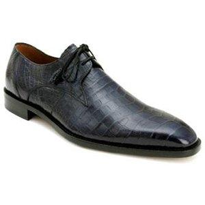 Mezlan Men's Brut Shoes,Blue Genuine Alligator,9 M US (Alligator Shoes Adult)