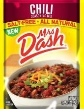 Mrs Dash Salt Free Chili Mix (1.25 oz Packets) 4 Pack (Seasoning Mix Chili Packet)