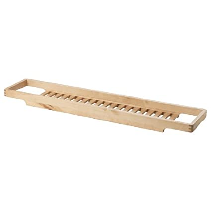 Charmant Ikea Bath Organizer 28\u0026quot; Fits Most Bathtubs Solid Birch Wood Accessory  Toy Shampoo