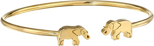 Alex and Ani Women's Elephant Cuff Bracelet, 14kt Gold Plated