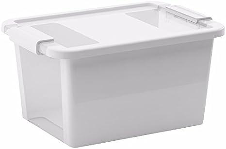 Kis Storage box Bi 3 L in white-transparent 16 x 26.5 x 10 cm