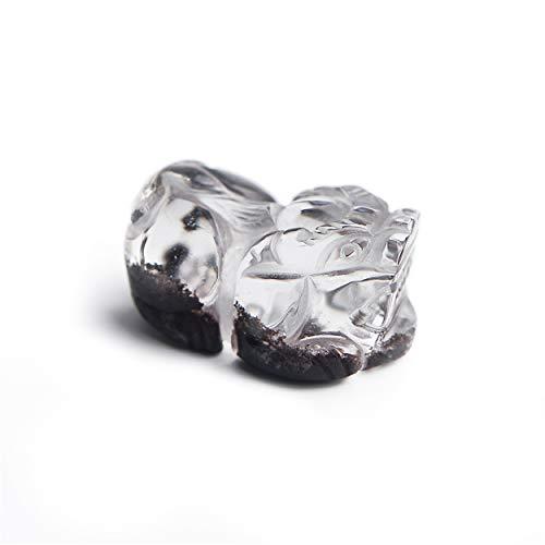 LiZiFang Genuine Natural Red Phantom Quartz Crystal Pi Xiu Pendant for Necklace