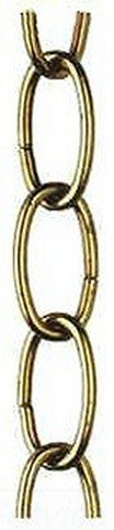 120' 8 Gauge Spooled Oval Fixture Chain - Brushed Brass (Westinghouse Brush)