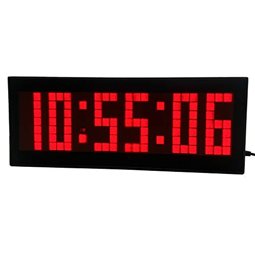 affordable BTBSIGN LED Digital Countdown Wall Clock with Remote Gym Fitness Sport Timing Clock