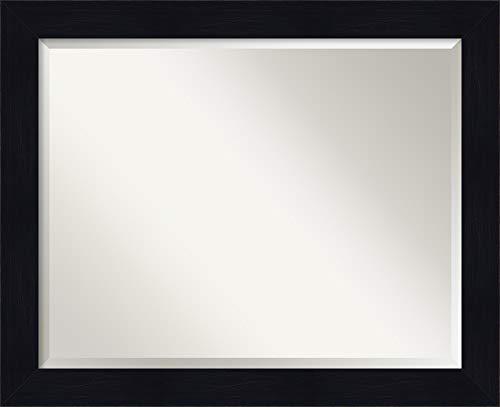 Amanti Art Framed Vanity Mirror | Bathroom Mirrors for Wall | Shiplap - Rustic Navy Blue Mirrors Framed Bathroom
