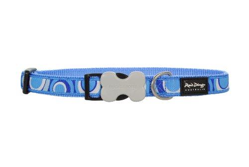 Red Dingo Circadelic Blue Medium Dog Collar