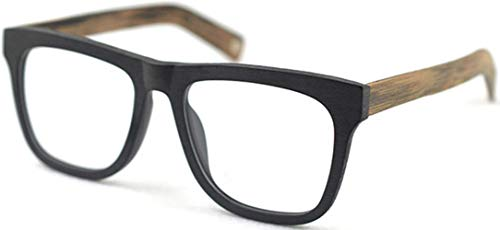 J&L Glasses J&L Glasses Large Woodgrain Eyeglasses Frame Faux Wooden Unisex Glasses Frame9089