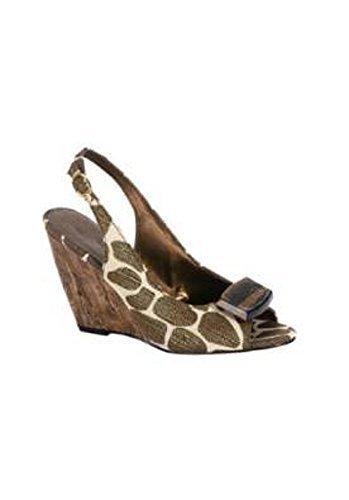 Sandalette von Andrea Conti in Reptiloptik - Farbe: Messing Messing