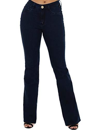 Calça Jeans Denuncia Mid Rise Flare Azul 36