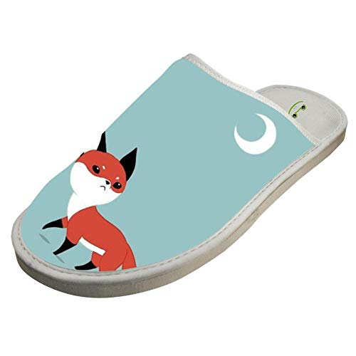 Fox Cartoon House White Unisex Warm Cute Night Cotton Keep Slippers Foxy Crocs House Adult Couples wpqAxA