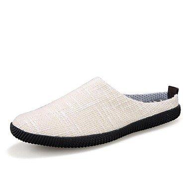 Sandalias de verano zapatos de hombre casual zapatillas de lona azul / beige/Caqui Beige