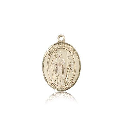 全国宅配無料 14 ktゴールド聖Susanna Medal B0039OK4ZA, BON ETO Vikings 5756808f
