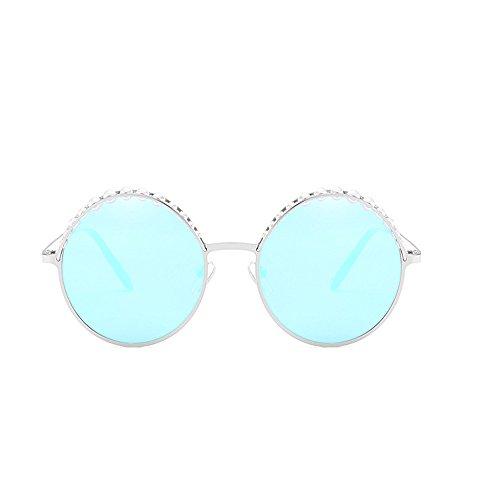 perles voler soleil de de Pilot de air Film Sports couleur pilote Polarized Lunettes polarisées avec réfléchissant Frog Lunettes Mirror Voyager pour blue plein fIgSxqpp
