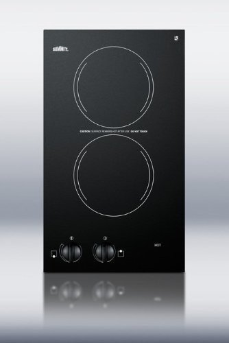 "Summit CR2110 12"" Electric Cooktop with 2 Burners Voltage: 110V"