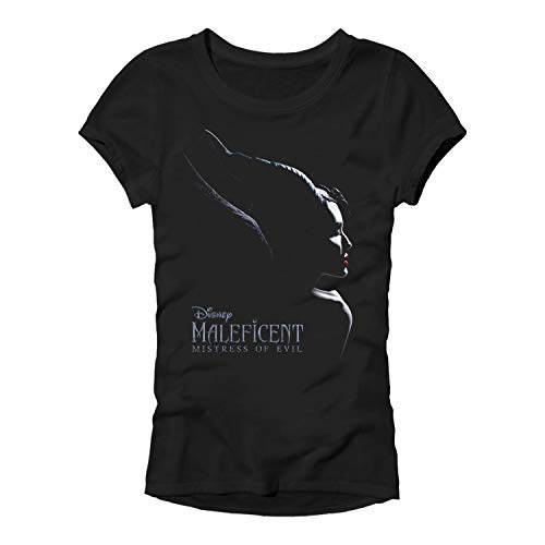 Disney Maleficent Mistress of Evil Sleeping Beauty Movie Juniors Womens T-Shirt(Black,X-Small)