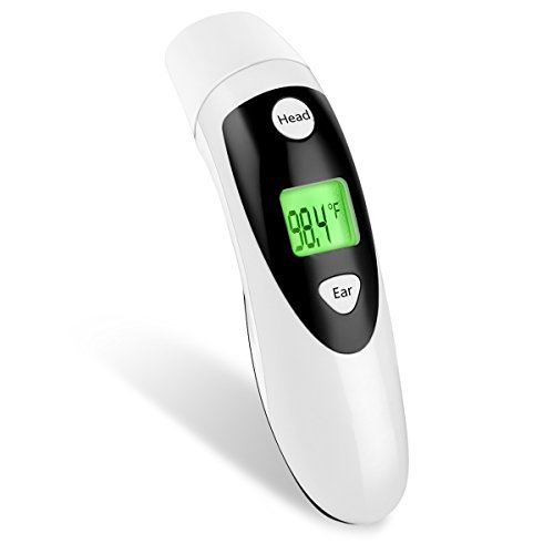 red-medical-forehead-and-ear-thermometer-professional-digital-clinical-thermometer-instant-read-with