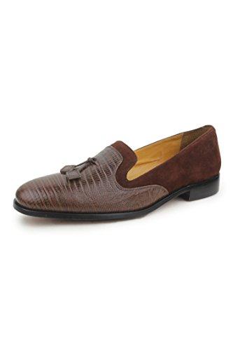 Liberty Men's Handmade Padded Footbad Mens Tassel Slip-On Loafer Shoes