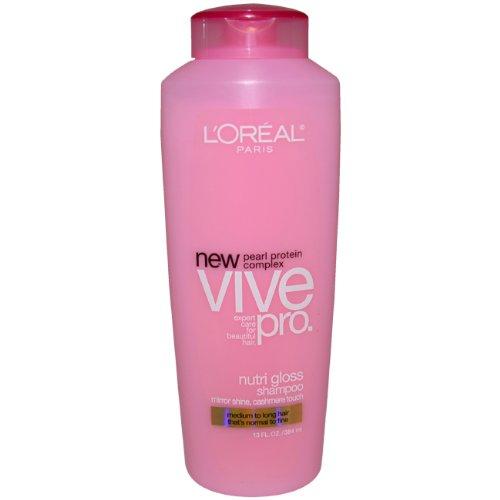 L'Oreal Paris Vive Pro Nutri Gloss Shampoo, Normal to Fine, 13 Fluid Ounce