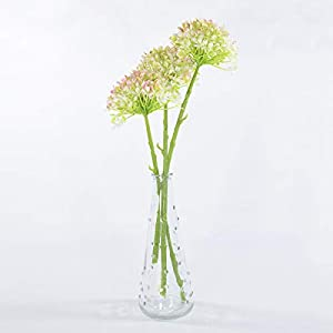 Anna Homey Decor Pack of 3 Mini Silk Hydrangea Fake Flowers Floral Arrangements Artificial Real Touch Flowers Plastic Flowers Stem Green for Wedding Living Room Decor DIY Home Party 52