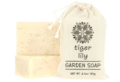 Greenwich Bay Set of 2 - Exfoliating Garden Shea & Cocoa Butter Soap 181g In Cloth Sack (Tiger Lily) by Greenwich Bay Trading by Greenwich Bay Trading (Image #1)