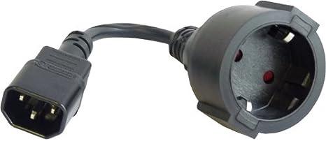 Netsells Netzkabel Kaltgeräte Stecker Schuko Buchse Kabel Für Usv Schwarz Gesamtlänge 0 23 M Elektronik