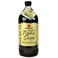 Ohsawa Nama Shoyu, Organic and Aged in 150 Year Cedar Kegs for Extra Flavor - Japanese Soy Sauce, Low - Sodium, Non-GMO, Vegan, Kosher - 32 oz