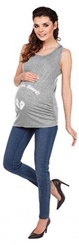 Zeta Ville - Camiseta Premamá Top sin Mangas Baby on Board - para mujer - 072c Mezcla De Grises