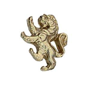 Pince à cravate 11x11mm en or Jaune 375/1000 lion rampant FT0001N13
