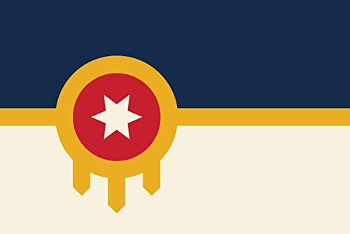 magFlags Large Flag City of Tulsa as of 2017 | landscape fla