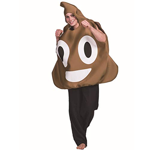 Jeash Halloween Cosplay Adult Halloween Stage Costume Spoof Funny Poop Expression Cosplay Clothes Props (Multicolor)