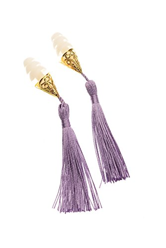Breakfast at Tiffany's Inspired Tassel Earplugs in Lavender Holly - Holly Costumes Golightly