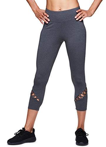 (RBX Active Women's Cotton Workout Gym Yoga Leggings F18 Charcoal)