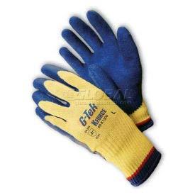 PIP G-Tek K-Force Gloves, Kevlar W/Blue Latex''Crinkle'' Grip, M (09-K1300/M) by PIP (Image #1)