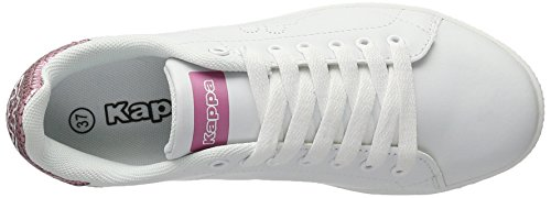 Kappa Damen Court Glory Sneaker Weiß (White/rosé)