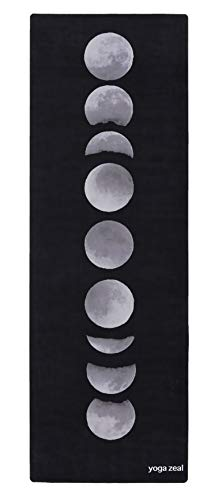 Moon Phases Yoga Mat - Luxuriously Soft, Printed, Non-Slip, Hot Yoga Mat. Designed to Grip Better...