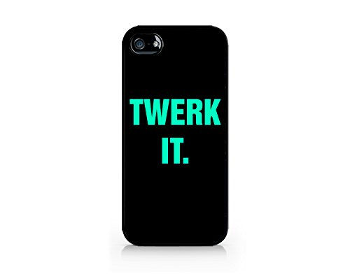 Twerk It. - Typo - Color - Sassy Quote - Compatible for iPhone 5/5S Black Case (C) Andre Gift Shop