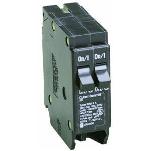 Eaton Corporation Bd1515 Single Pole Tandem Circuit Breaker, 120V, ()