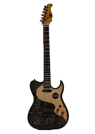 Axl Badwater T estilo guitarra - Agrietado negro: Amazon.es ...