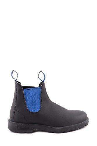 Stivaletto tronchetto in pelle Blundstone BCCAL0024 0515888 nero con elastico blu
