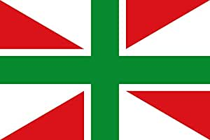 magFlags XL Flag Orozkoko udal ikurrina | landscape flag | 2.16m² | 23sqft | 120x180cm | 4x6ft - 100% Made in Germany - long lasting outdoor flag