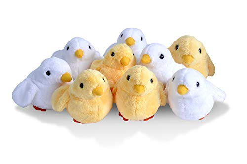 Wild Republic Chicks Plush, Stuffed Animals, Baby Easter Basket, Easter Eggs, Party Favors, 9-Pieces ()