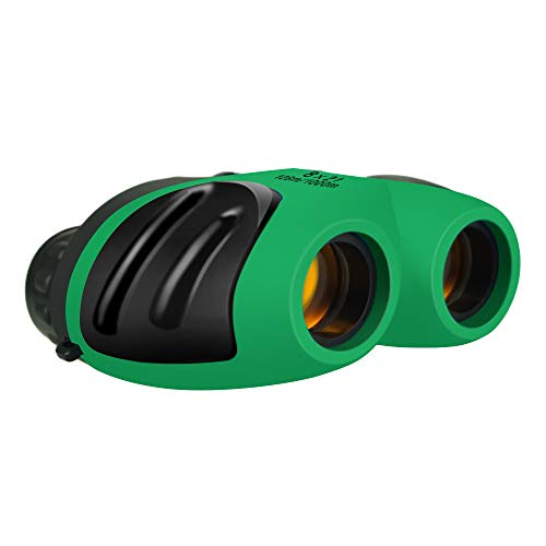 Hunting Toys for 9 Year Old Boys Girls, TOPTOY Shockproof Camping Hunting Binoculars for Kids Bird Watching Toys for 3-12 Year Old Boys Girls Christmas stocking stuffer stocking fillers Green TTUSTT01