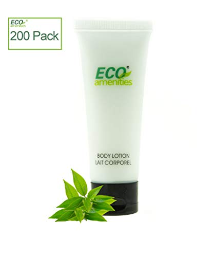 ECO Amenities Transparent Tube Flip Cap Individually Wrapped 30ml Body Lotion, 200 Tubes per Case ()