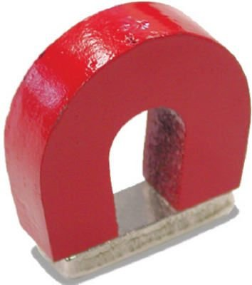 (Master Magnetics #07279 RED Horseshoe Magnet)