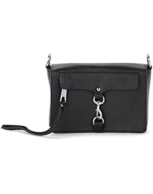 Women's Minkoff M.a.b. Black Leather Shoulder Bag Black