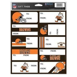 NFL Cleveland Browns Gift Tags, Team Color, One Size