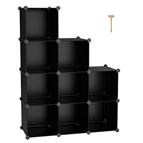 - WUPYI Cube Storage,9-Cube Plastic Storage Cube Organizer Closet Organizer Storage Shelves Cubes Organizer DIY Modular Storage Cabinet Closet Cabinet Bookcase Shelf Closet for Bedroom Living Room Offic