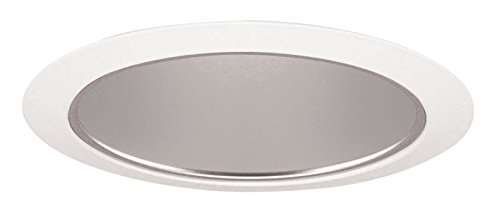 Juno Lighting 27HZ-WH 6-Inch Tapered Downlight Cone, White Trim with Haze